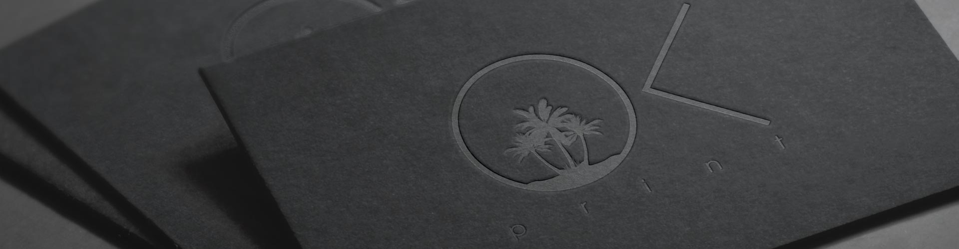 OK PRINT embossed business cards