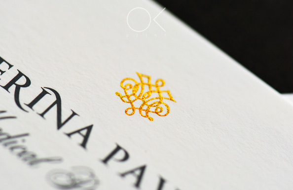 Luxury Business Cards with raised ink