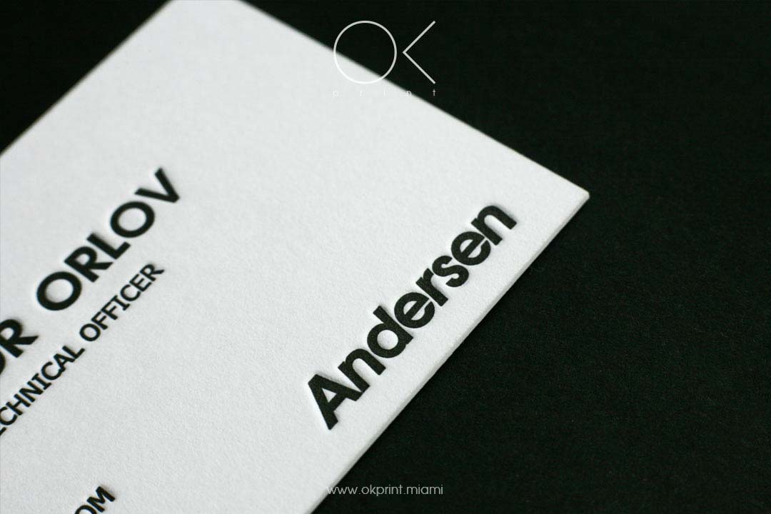 letterpress business cards for IT Company