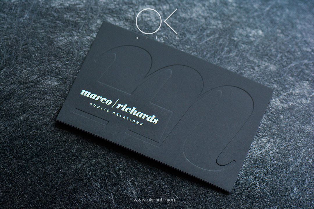 DEBOSSED BUSINESS CARDS | OK PRINT, MIAMI