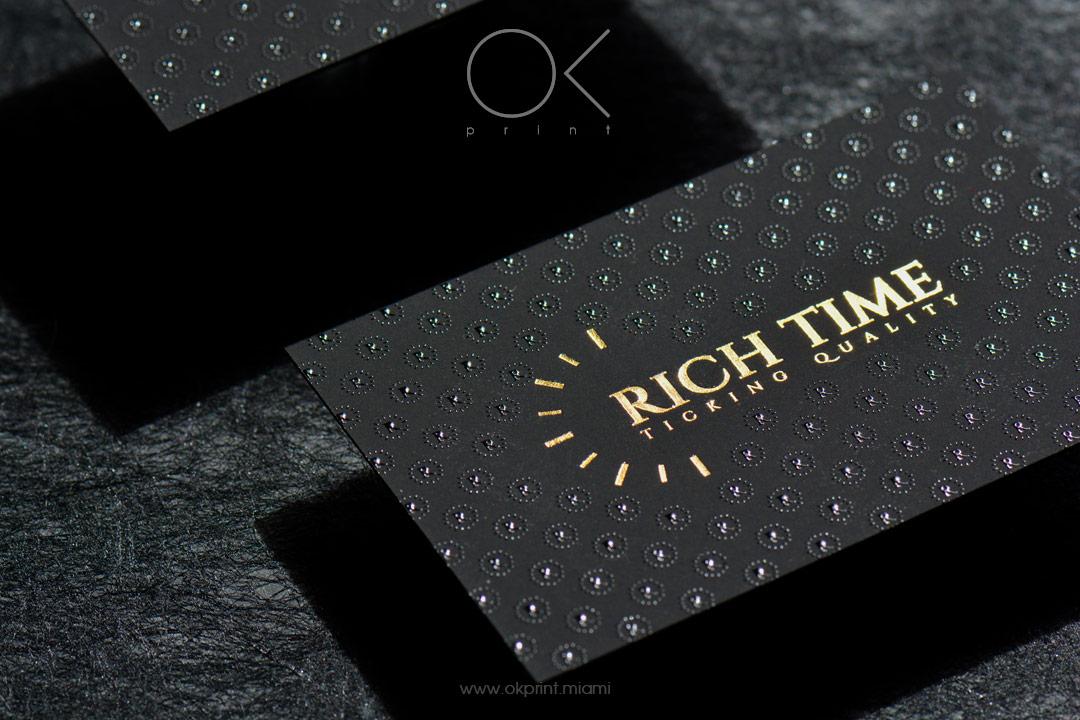FOILED BUSINESS CARDS | OK PRINT, MIAMI