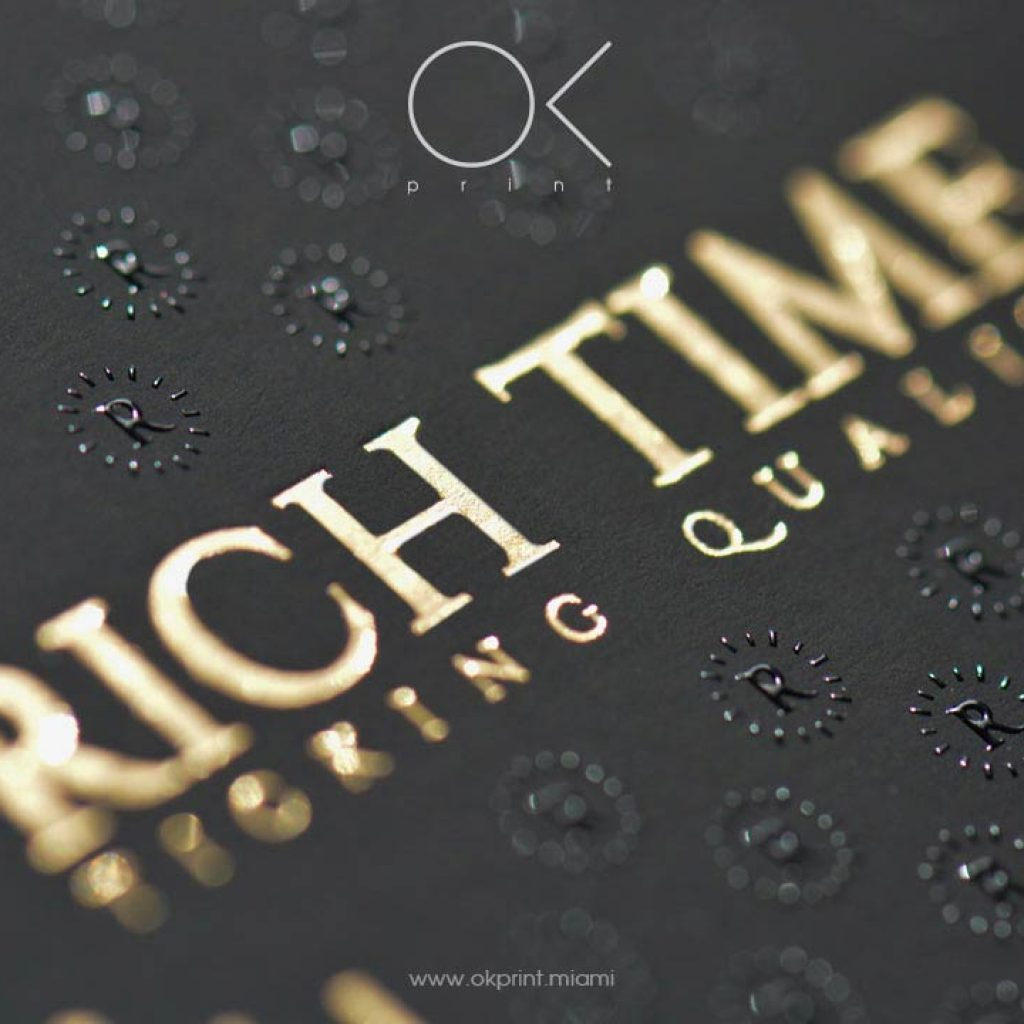 Thermography raised ink business cards ok print miami luxury thermography business cards with gold foiling and colourmoves