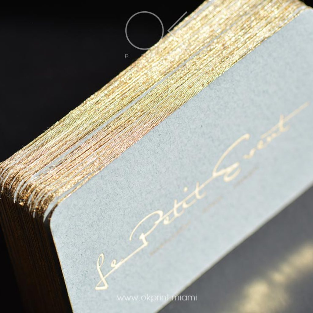 Luxury business cards miami ok print miami luxury business cards with foiling and paint edges in gold reheart Gallery