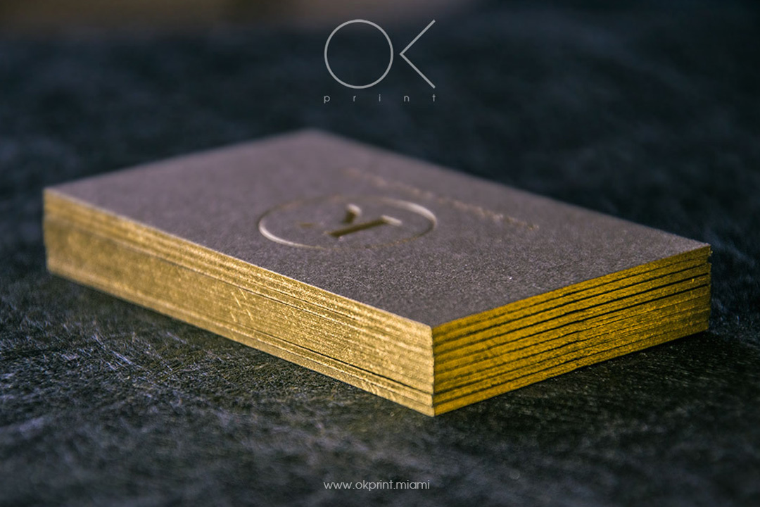 Edge Gilded Business Card