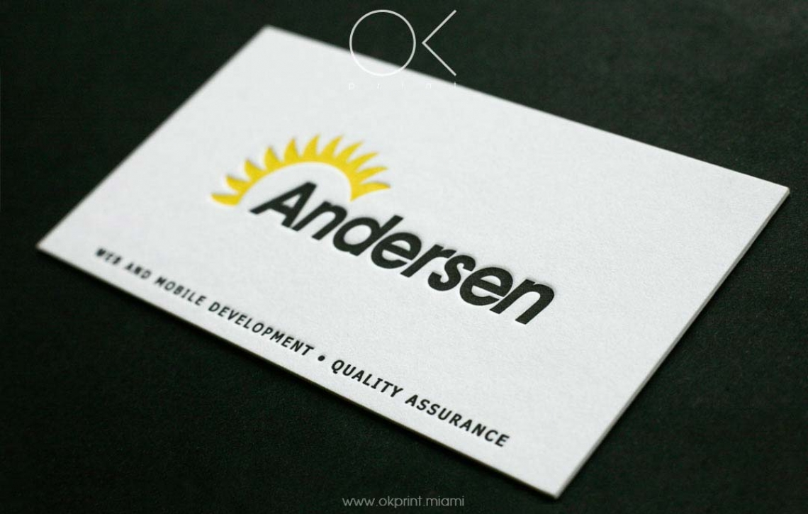 LETTERPRESS BUSINESS CARDS FOR IT COMPANY – OK PRINT, MIAMI