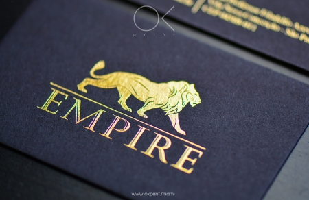 Foiled business cards ok print miami gold foil stamping on black business card colourmoves