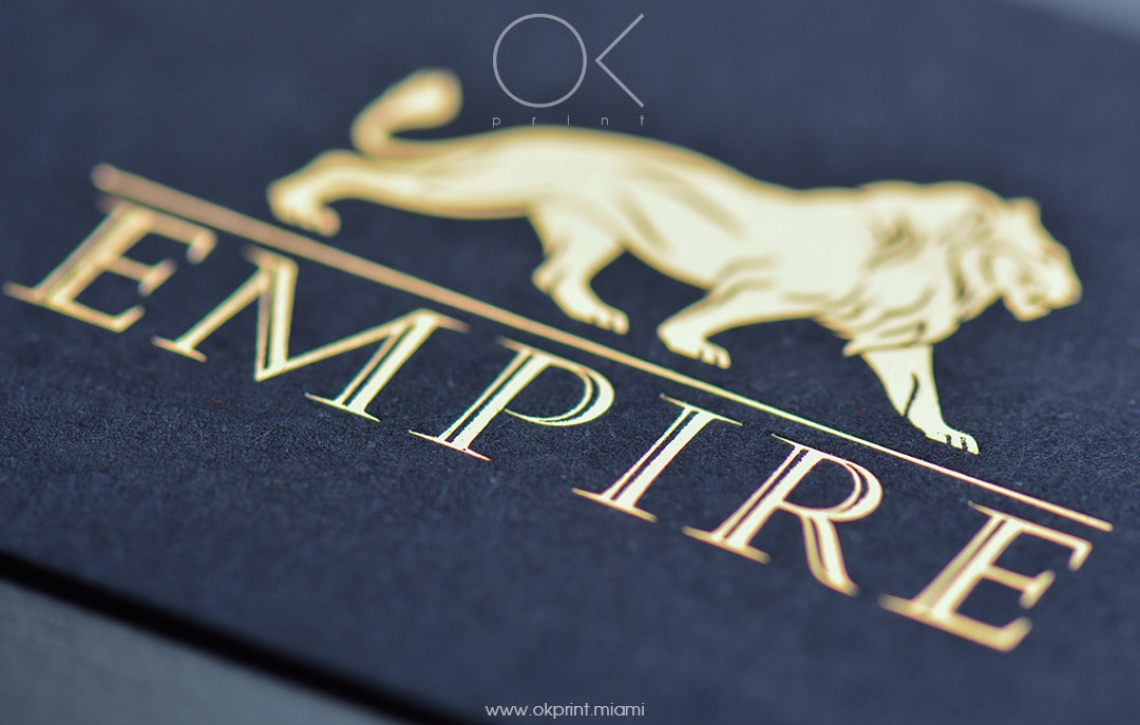 "LUXURY FOILED BUSINESS CARDS FOR ""EMPIRE"" – OK PRINT, MIAMI"