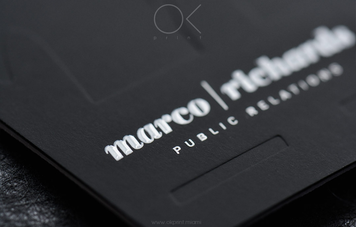 LUXURY DEBOSSED BUSINESS CARDS FOR PUBLIC RELATIONS AGENCY – OK ...