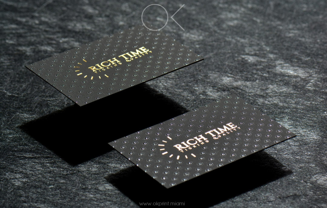 Luxury foiled business cards with raised ink for rich time ok luxury business cards with gold foiling and thermography magicingreecefo Gallery