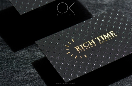 Foiled business cards ok print miami luxury business cards with gold foiling and thermography reheart Images