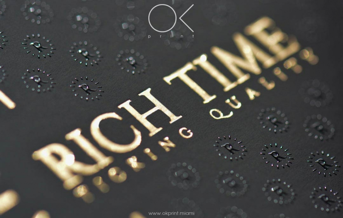 Luxury foiled business cards with raised ink for rich time ok luxury thermography business cards with gold foiling and reheart Choice Image
