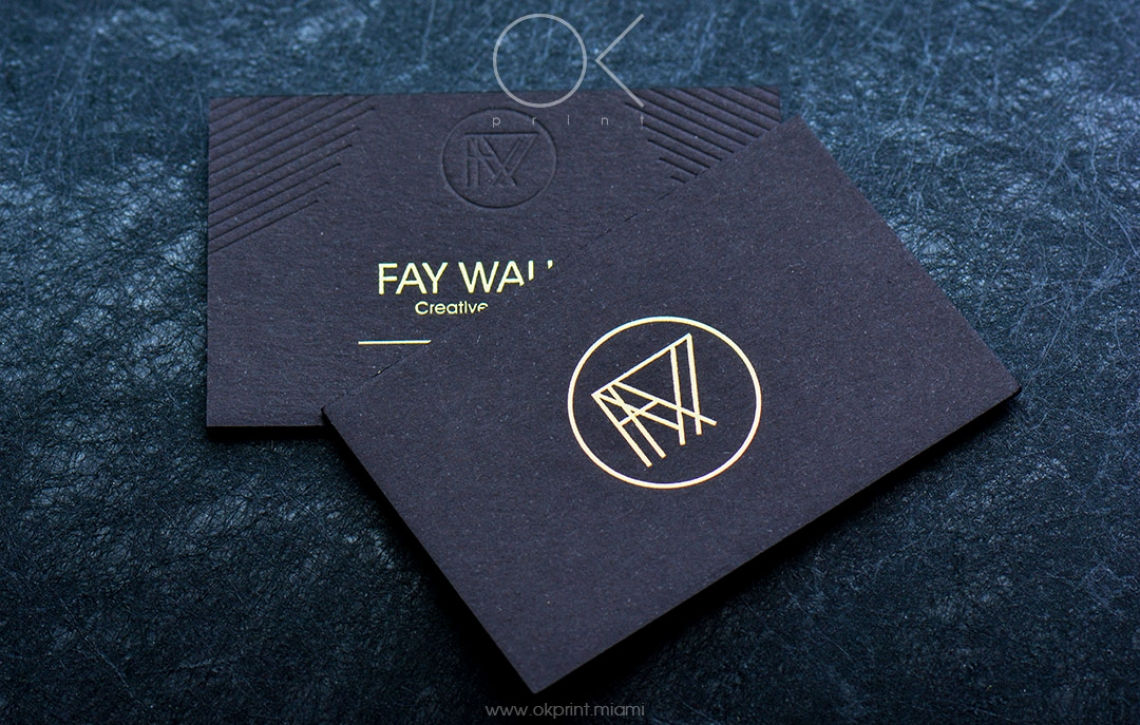 FOILED BUSINESS CARDS FOR FAY WALKER, CREATIVE RETOUCHER – OK PRINT ...