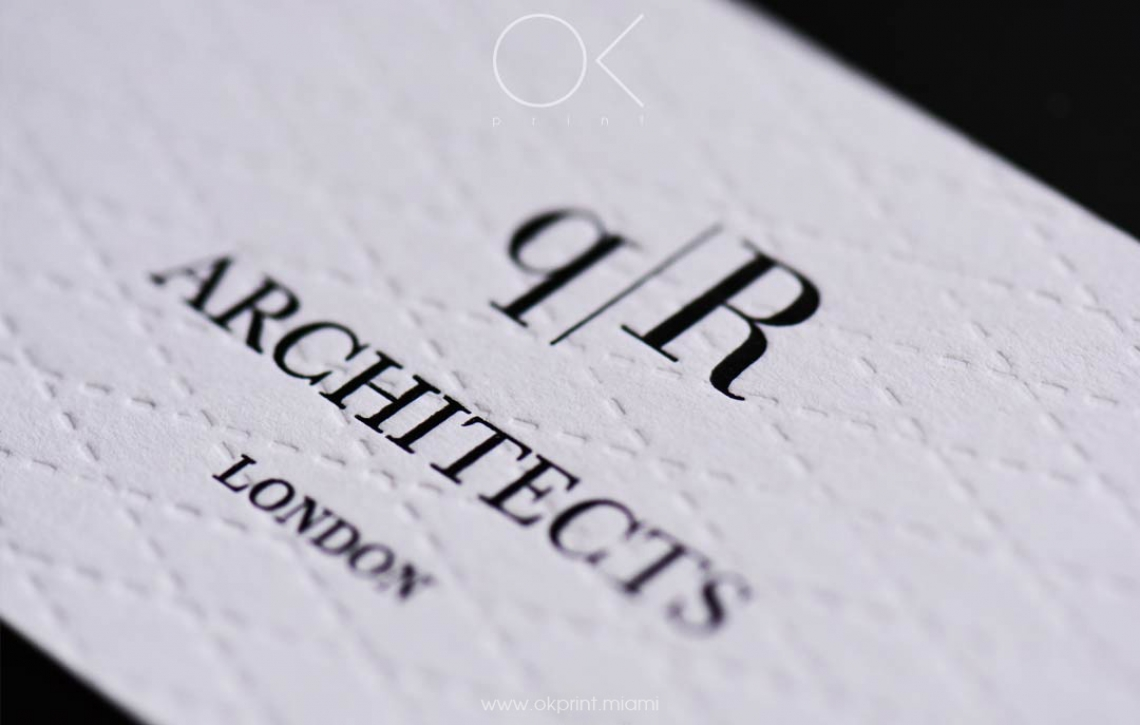 LUXURY DEBOSSED BUSINESS CARDS FOR ARCHITECTS COMPANY – OK PRINT ...